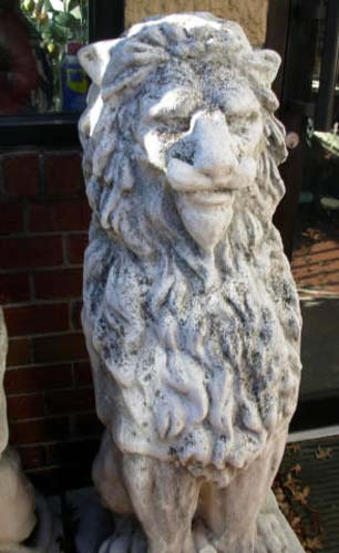Stone lions a pair   SOLD