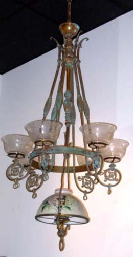 Chandelier, Gas/Kerosene