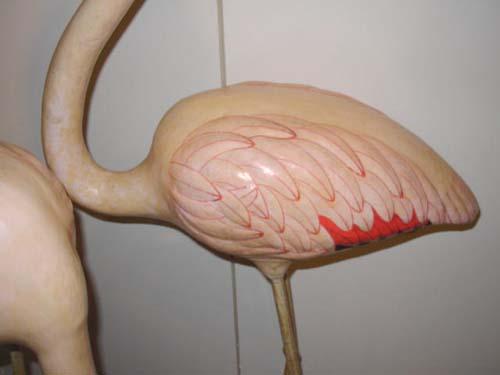 Papier Mache Flamingoes SOLD