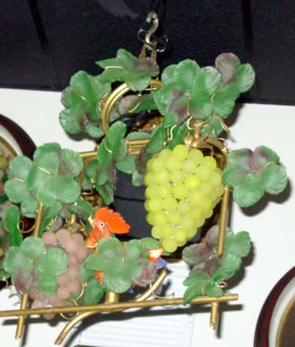 Chandelier: Italian Glass Fruit Chandelier