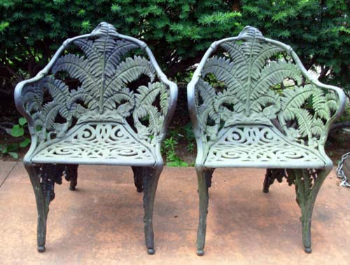 Cast Iron Fern Chairs, SOLD Part 38