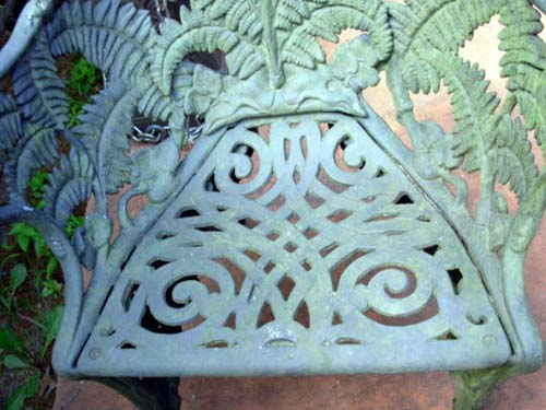 Cast Iron Fern Chairs, SOLD