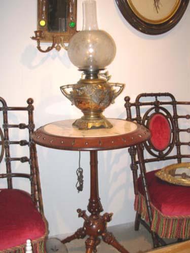 Table: Hunzinger Victorian  Walnut Table
