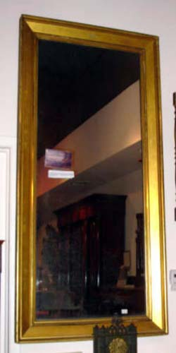 Labeled Gilt Ogee Mirror  SOLD