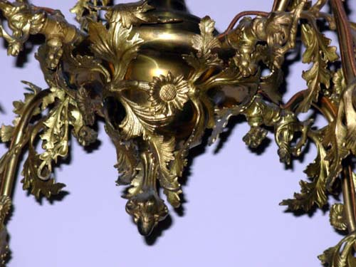 Chandelier:Rococo Gas Chandelier- Cornelius