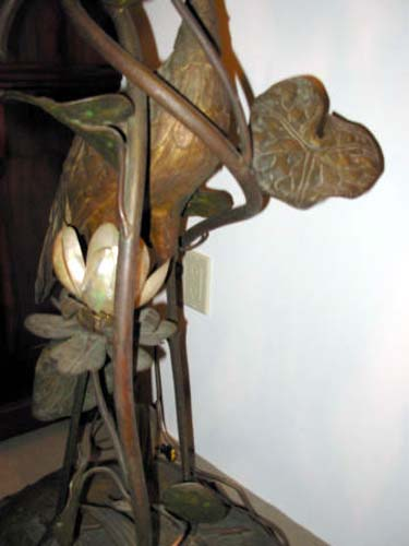 Exotic Bronze Bird Floor Lamp