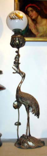 Bronze Kerosene Egret Floor Lamp