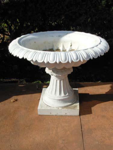 Urns,Pr of Pedestal Urns, Cast Iron SOLD
