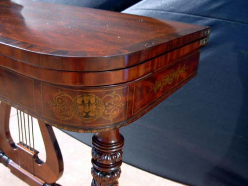 Table: Stenciled attrib Deming & Bulkley, America