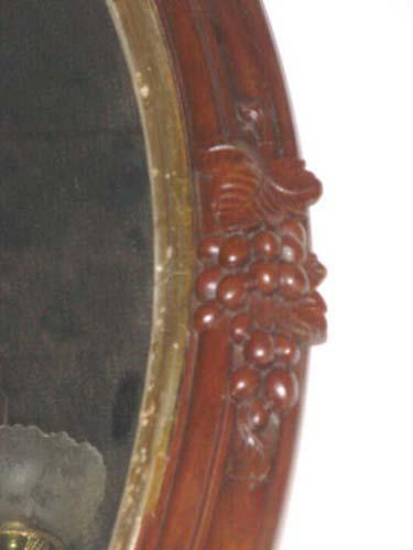 Mirror: Victorian Rose Carved Walnut