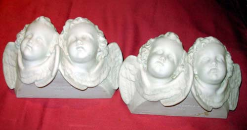 Parian; Copeland Parian Brackets of Cherubs