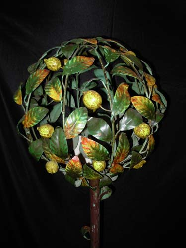Vintage Tole Lemon Tree   SOLD