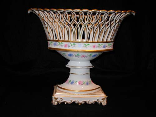 Compote: Old Paris Porcelain Basket