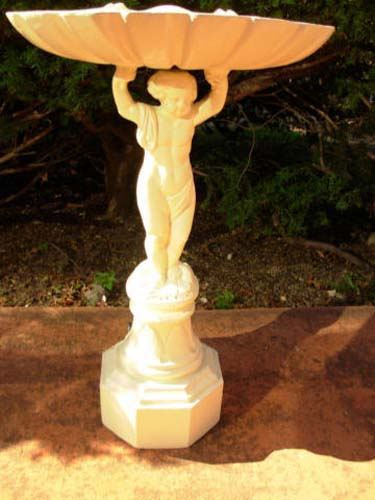 Bird Bath,with Cherub, Cast Iron SOLD