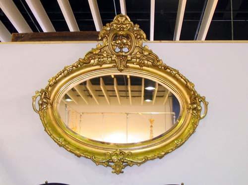 Mirror Rococo Gilt Oval  SOLD