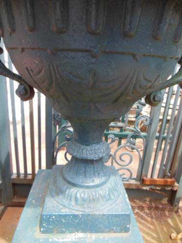 Urn, Cast Iron with Handles SOLD