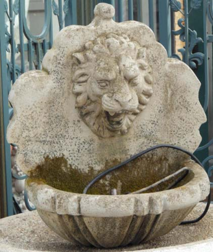 Fountain, Cast Stone Wall Fountain