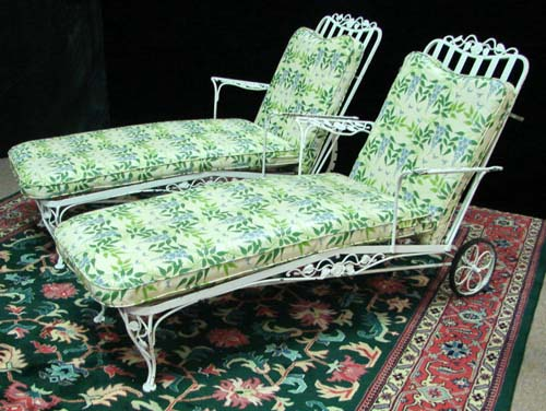 Chaises, Woodard Chantilly Rose SOLD