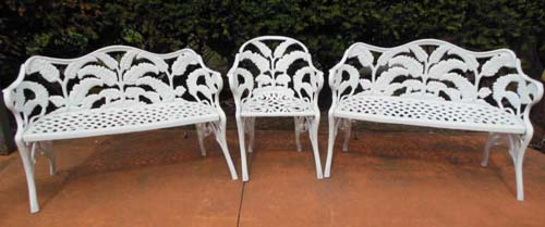 Benches & Chair, Fern Pattern SOLD