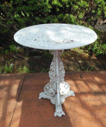 Garden Table, Cast Iron Chris, Dresser & Coalbrook