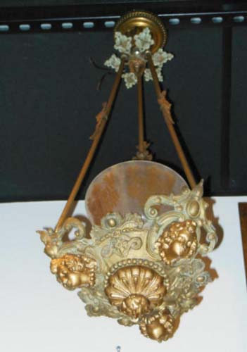 Rococo Hall lantern with bi colored globe