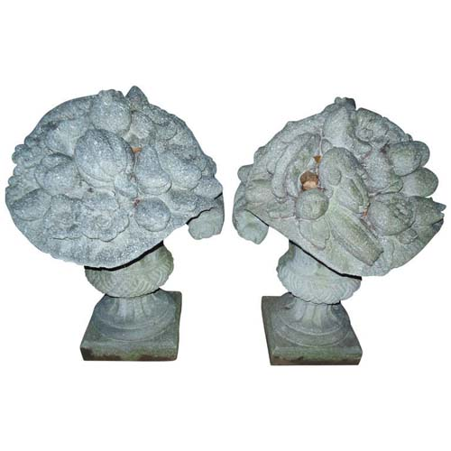 Flower Baskets, Cast Stone SOLD