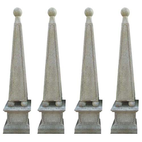 Garden Obelisks Cast Stone set of 4