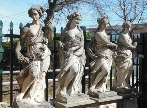 Statues, Cast Stone 4 seasons SOLD