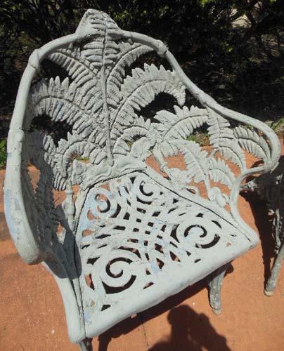 Garden Chairs, Fern Pattern SOLD
