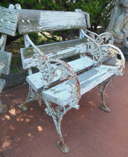 Bench Cast Iron Bench, Falkirk Iron Co SOLD