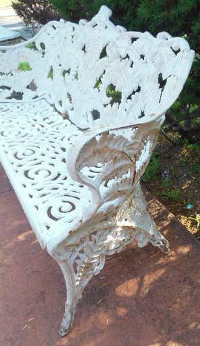 Bench Cast Iron Fern Pattern SOLD
