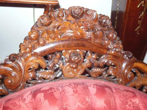 Sofa, Belter Fountain Elms