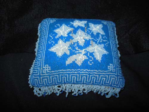 Bead Work Pillow Victorian