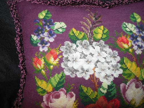 Bead Work Pillow
