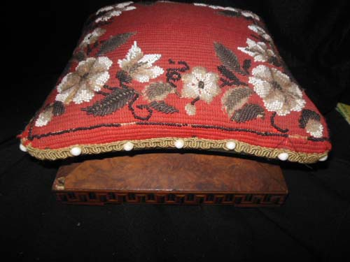 Victorian Bead Work Footstool