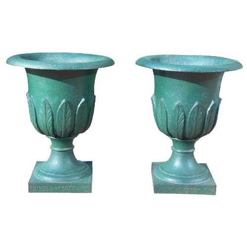 Garden Urns Cast Iron Pr  English Urns