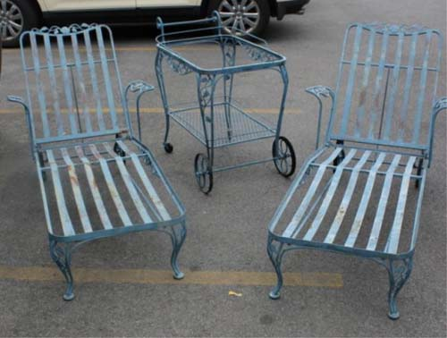Vintage Chaise Lounges by Woodard SOLD