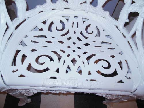 Chair Cast Iron Lily of the Valley SOLD