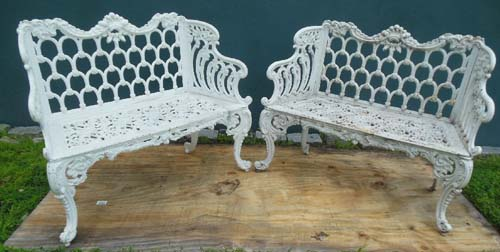 Benches Cast Iron White House Pr SOLD