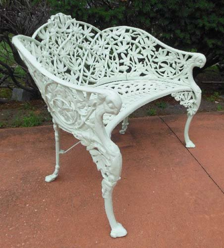 Benches, Cast Iron Pr Passion Flower