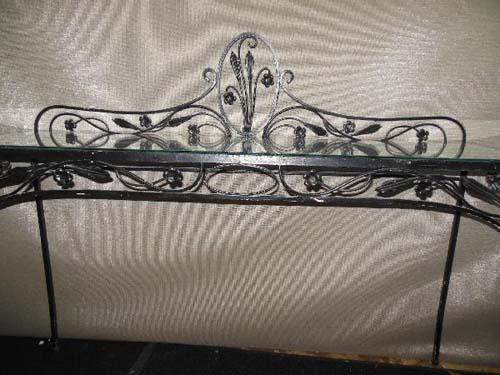Console table Wrought Iron SOLD