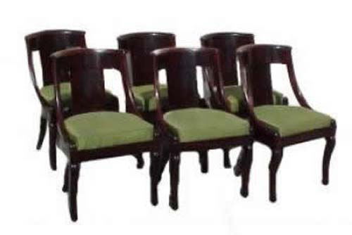 Antique Set Of Am. Classical Chairs