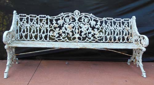 Garden Bench Antique Coalbrookdale Cast Iron SOLD