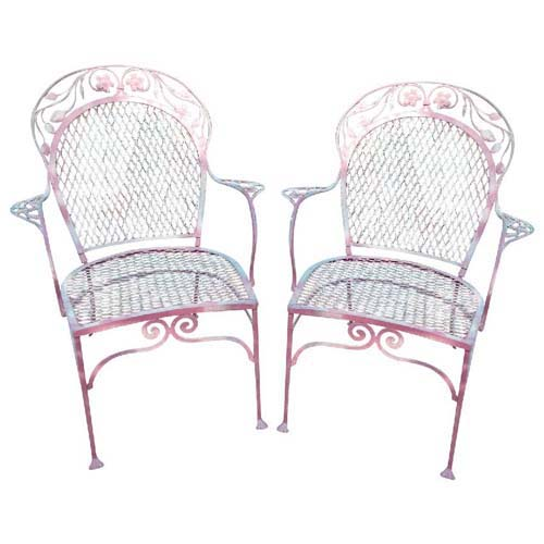 Chairs Salterini Pr of wrought iron