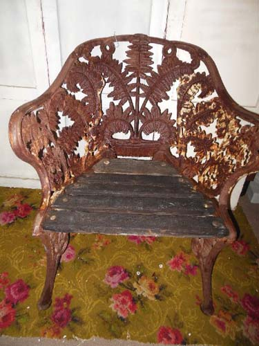 Chair, Cast Iron Fern Chair, Coalbrookdale? Hold