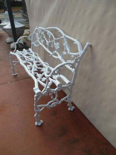 Bench, Cast Iron Twig Bench SOLD