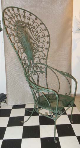 Salterini Rare Peacock Chair, wrought iron