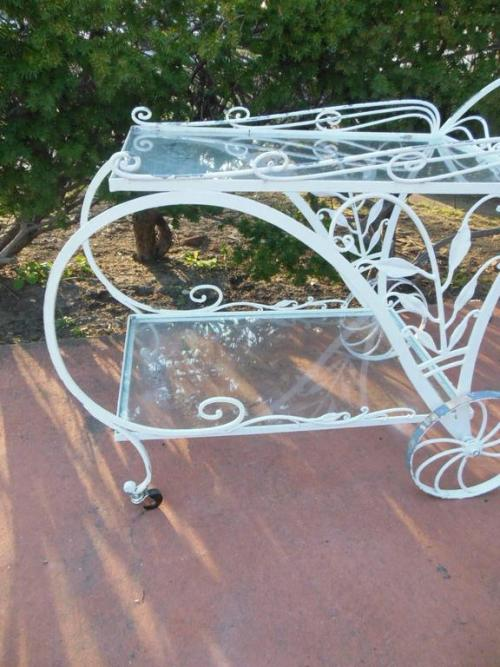 Tea or Bar cart, Vintage Salterini for patio/garde