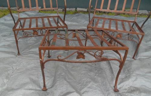 Vintage Salterini Mt Vernon Chairs, &Ottoman.SOLD