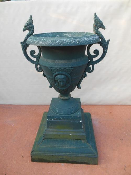 Urn, Cast Iron, Sgnd Abendroth